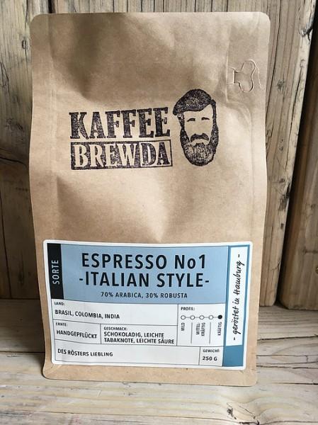 Espresso No 1 - Italian Style - ganze Bohne