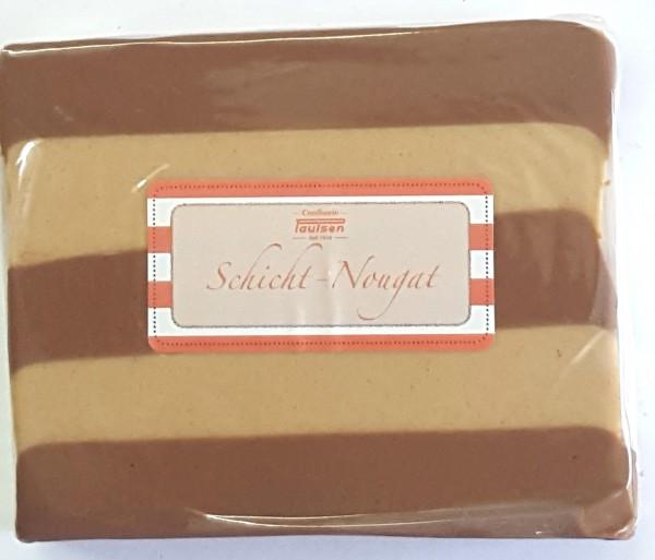 Schicht-Nougat, geschnitten