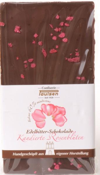 Edelbitter 60% kandierte Rosenblättern