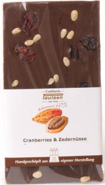 Edelbitter 60% Cranberries & Zedernüssen